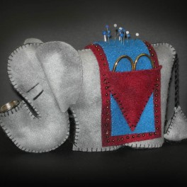 Vintage Elephant Sewing Kit